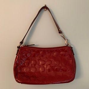 Coach Glossy Red Shoulder Bag